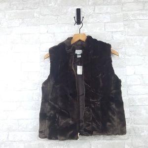 Loft Faux Fur Vest | Size S